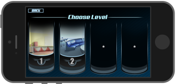 Choose level screen.