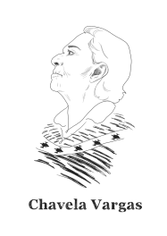 Chavela Vargas, mexican musician.