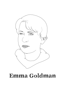Emma Goldman, North-American anarchist political activist and writer.