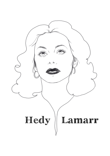 Hedy Lamarr, Austrian-born film actress and inventor.