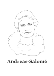 Andreas Lou-Salomé, Russian-born psychoanalyst and a well traveled author, narrator, and essayist.