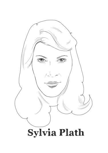 Sylvia Plath, North-American poet.